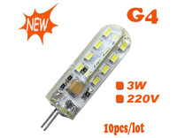 Led g4  corn light ,3w 220v ,SMD3014 white/warm white ,high brightness ,10pcs/lot free shipping