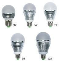 High Power E27 Globe LED bulb light lamp 85-265V 3W 5W 7W 9W Cool Warm White