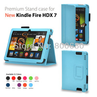 New kindle fire HDX 7 stand case cover for Amazon Kindle fire HDX 7 50pcs/lot free shipping