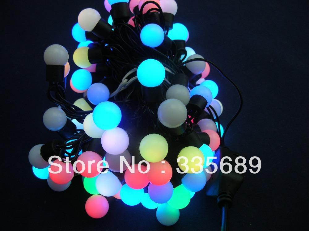 Quick Flash LED RGB Ball String Light;100LEDs Waterproof RGB LED;LED Christmas Lamp;RGB Color;IP64;dimmeter 17mm;AC220V;7.5W;10M(China (Mainland))