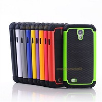 For Samsung Galaxy S4 i9500 Black Rugged Rubber Matte Hard Case Cover +Gift Screen Protect