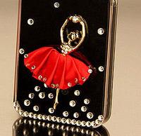 Handmade Fashion Flower dancing girl Shining Rhinestone diamond Hard Case for Lenovo A390