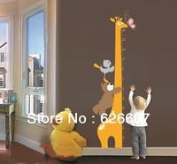 Hot Sale Giraffe Height Measurement Wall Art Stikers for Kids