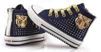 2013 fall new Korean children boys girls shoes rivet shoes canvas shoes free shipping