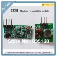 free shipping 10PCS 5pairs  receiver + transmitter  433M Wireless transmitter module Security alarm  superregenerative module