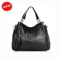 2014 Dumplings Big Bag Ladie's Genuine Leather Handbags Practical High Quality Fashion Women Tote Shoulder Messenger Bags,Q0217