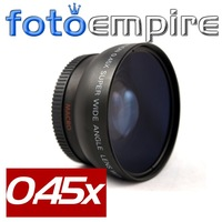 55mm 0.45x Wide Angle Lens & Macro Conversion Lens 0.45x 55 for 55 mm Canon Nikon Sony A350 A700 Pentax Olympus DSLR Camera