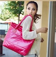 2015 Fashion Korean Autumn Winter Hot Sell PU Down Cotton Handbag Ladies Space Bale bags for Women Shoulder Bag Designer A567