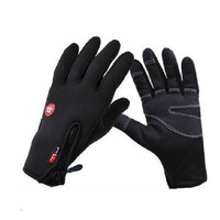 Motorcycle Full Finger Gloves Windproof and Waterproof Riding Gloves Black