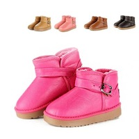 2013  winter boots child snow boots boys and girl kids ankle boots cotton boots high waterproof warm leather flat shoes