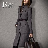 Woolen outerwear female  autumn and winter fashion star slim medium-long woolen cashmere overcoat
