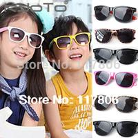 Free Shipping Fashion Kids Sunglasses 1pc Childrens Sun Glasses Anti-uv Baby Sun-shading Eyeglasses Outdoor Sunglass GL14