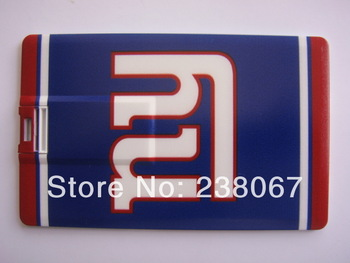 Cheap And Wholesale Christmas Gift USB 8G Rugby Card Type For New York Giants Logo Free Shipping