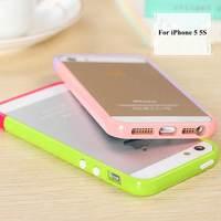 2 pieces = 1 bumper DIY Fashion Candy color Plastic Bumper For Apple iphone 5 5s