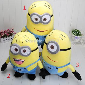 3pcs 20inches 50cm Despicable Me Minion Plush Doll toys 3D eyes  retail free shipping