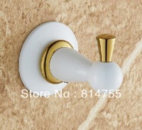 Robe Hook,Clothes Hook,Solid Brass Construction with White finish,Bathroom Accessories,Free Shipping