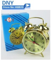 Free shipping hot sale Antique mechanical alarm clock copper movement wound-up lounged mini alarm clock