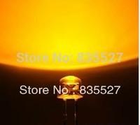 1000PCS/LOT F5 straw hat yellow short legs LED5MM 5MM LED 5mm straw hat led lamp beads length:16-18mm