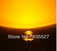 Free shipping F5 straw hat yellow short legs LED5MM 5MM LED 5mm straw hat led lamp beads length:16-18mm