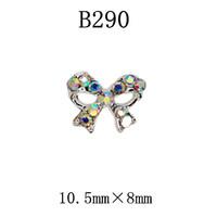 100pcs/design  Fashion 3D Alloy color Crystal  Nail art Decoration of 3D alloy 3D nail art studs  B290