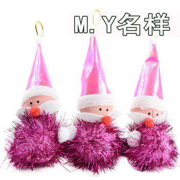 2 pcs 15cm New arrival Christmas hanging  Decoration cute colorful Mini Santa Claus