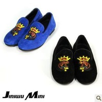 size24-34 2013 children round toe Mercerized velvet black blue cool lazy shoes boy girl autumn breathable shoes gb008