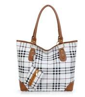 Stock Sale  New 2013 PU Leather Designer Plaid Print  Handbags  women totes bags women  Messenger bags bolsas