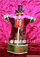 Quality Damask Paper Togae Bottle Sets Quality Silk Bottle Sets Purplish Red T286C 5 PCS / Lot Wholesale Free Shipping