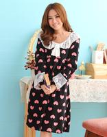 Herfair lounge set Pajamas, black tracksuit sleepwear nightgown