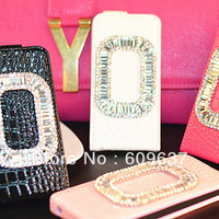 Mirror shell for iphone5 5 scase diamond cell protection shell protective sleeve phone sets wholesale custom