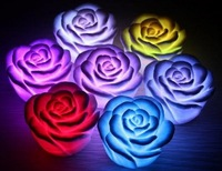 7 romantic gradient Color Changing Rose Night Light Colorful LED Lamp Home/Party Decoration Holidaya Gifts Hot Selling 20pcs/lot