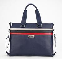 2014 New Fashion Genuine Cowhide Leather Men Briefcase Classic Handbag Messenger Bag Shoulder Laptop Bags Free Shipping