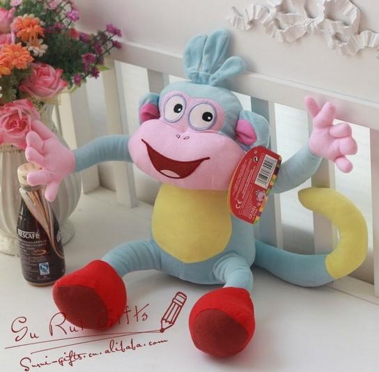 "BOOTS 1 Piece10"" Dora the Explorer The Monkey Plush Dolls Soft Toy Dora Doll Plush Best Kids Gift(China (Mainland))"