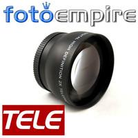 43mm 2.0X TELE Telephoto Lens 43 mm 2X  Tele Converter Lens Silver New