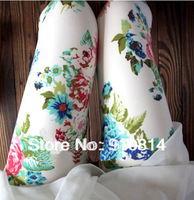 2014 Gorgeous Retro Flowers Print Leggings Graffiti Pants Sexy Women Leggings Fashion Europe and America Style Free Shipping