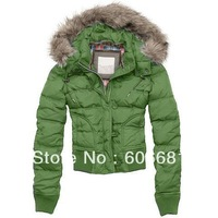 Free shipping classical Women's Fur Collar hooded long-sleeved Down jacket Casual Women's warm winter Coat Sale