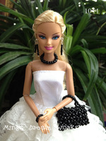 FREE SHIPPING Doll accessory Hand made Jewellery & Handbag set for barbie Doll - item no.1044