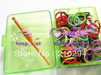 Free shipping DIY loom band, neon bracelet, PE box packing, bands for Neon bracelet, Europe and America popular shape bracelet