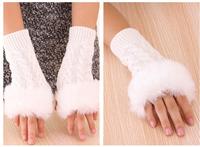Fast arrived   winter knitted Men  glovefingerless gloves half finger  computer gloves love letters mittens 1pair