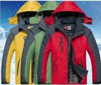 Free Shipping 2013 Li Ning sportswear Outerwear Jackets suit men outdoor warm winter plus thick velvet hooded wear lovers M-5XL
