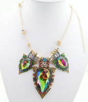 Retro big European and American original single exaggerated female short paragraph with jewelry