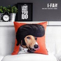 Retro Vintage Elvis Presley  Creative Cat pillow cover Cute cartoon plush pillow cushion cover for car office sofa cushions