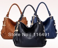 NEW 2014 women's handbag brand Genuine leather tote bag Fashion Designer brand Shoulder handbag High quality Genuine leather bag