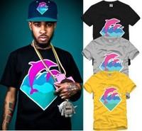 Hot sale , 2014 summer newest women & men Pink dolphin T-Shirts , street basketball t-shirt men's t shirt ,boy's hip-hop wear