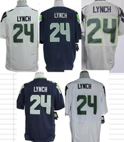 Free Shipping American #24 Marshawn Lynch Jerseys,Mens Elite/Game Blue/White/Grey Football Jersey,Accept Mix Order