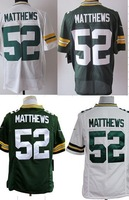 Free Shipping American #52 Clay Matthews Jerseys,Mens Elite/Game Green/White Football Jersey,Accept Mix Order