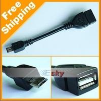 2013 Hot sales High Quality USB Host OTG Cable Micro USB to Female USB For Samsung N7100 i9300 i9100 i9250 i9220 Free Shipping