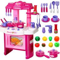 Child toy girls kitchen toys set baby diy musical