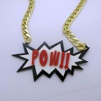 Bombing POW! ! Hiphop Pendant Necklace
