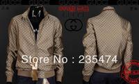 2013NEW fashion Men's casual jacket  zipper men's coat 3 color size M - XXXXL